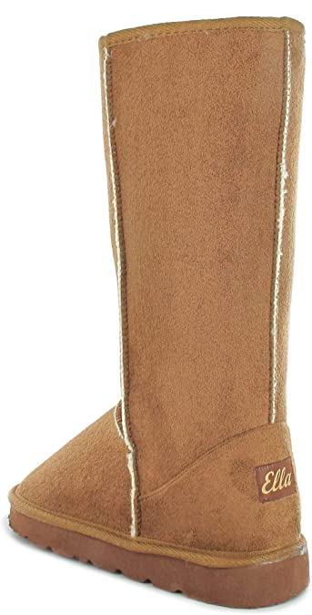 ELLA LADIES WILLOW MID CALF BOOTS MEMORY FOAM FOOTBED NEW FAUX FUR LINING WARM
