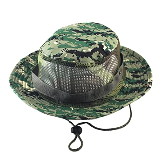 3568db0659c Besooly Boonie Hats Camouflage Nepalese Cap Army Mens Fisherman Hat Outdoor  Sun Protection Hunting Sunhat Mesh