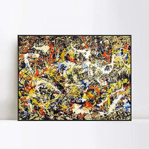 INVIN ART Framed Canvas Giclee Print Art Convergence