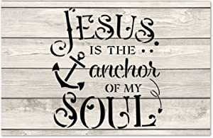 by Unbranded Wood Sign Jesus is The Anchor of My Soul 12