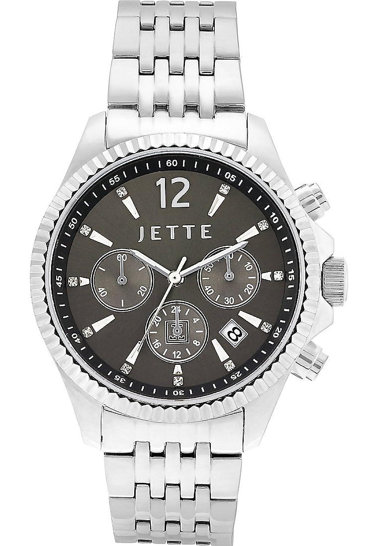 JETTE Time Damen-Armbanduhr Crossroad Analog Quarz One Size - grau - silber-anthrazit-grau