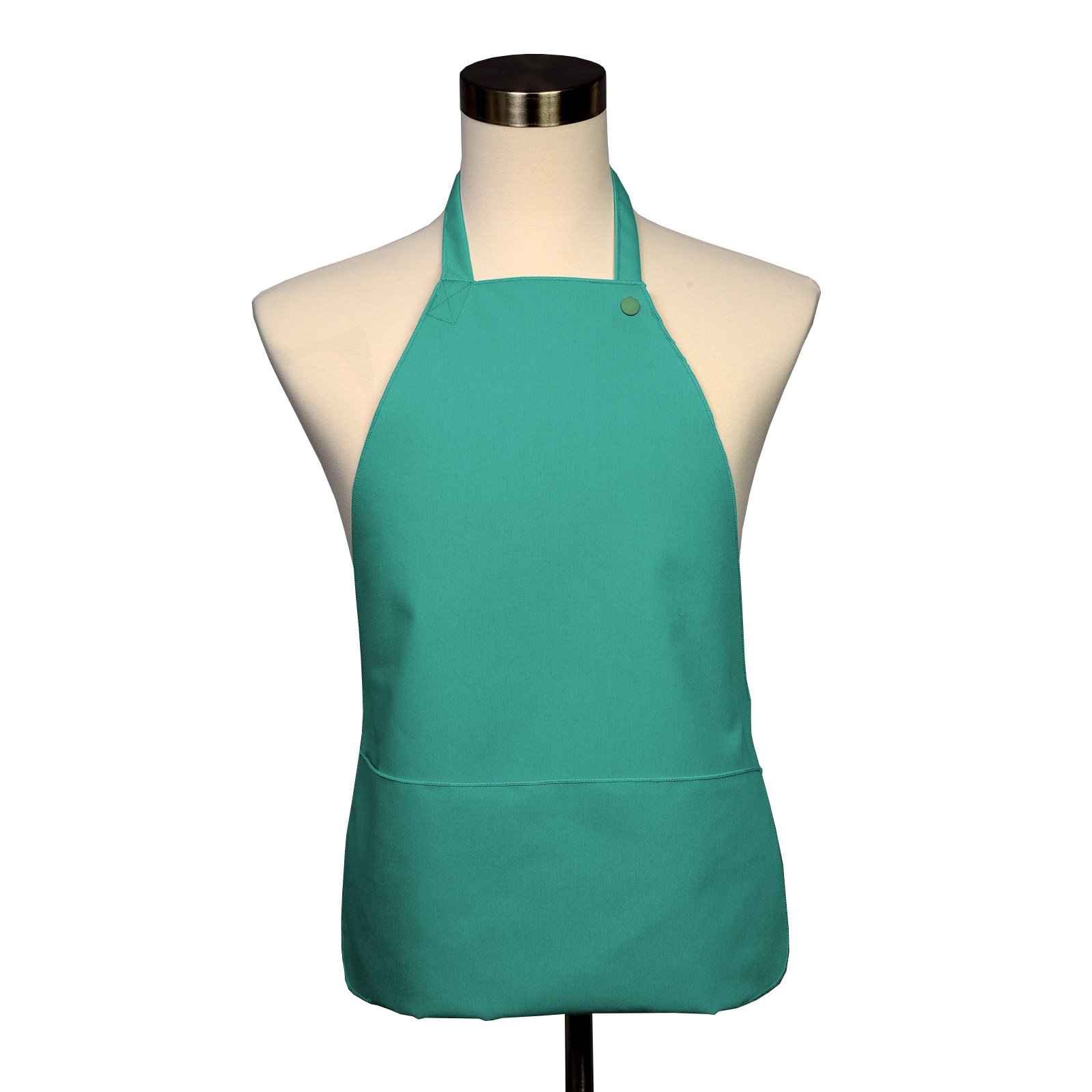 Adult Bib 10 Pack - Covered with Care Assorted Colors Available! (Belize Blue) by Fabric Textile Products