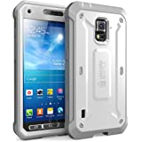 Galaxy S5 Active Case, SUPCASE Unicorn Beetle PRO Series Full-body Hybrid Case with Screen Protector(SM-G870A Water and Shock Resistant Version Smartphone), White/Gray Dual Layer + Impact Resistant