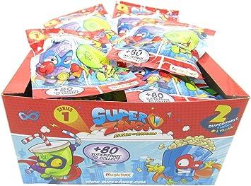 Magic Box SUPERZINGS Caja Completa 30 Sobres 2 Personajes Cada uno (1 héroe + 1 Enemigo) 60 Personajes Total Originales Rivals of Kaboom Serie 1: Amazon.es: Juguetes y juegos