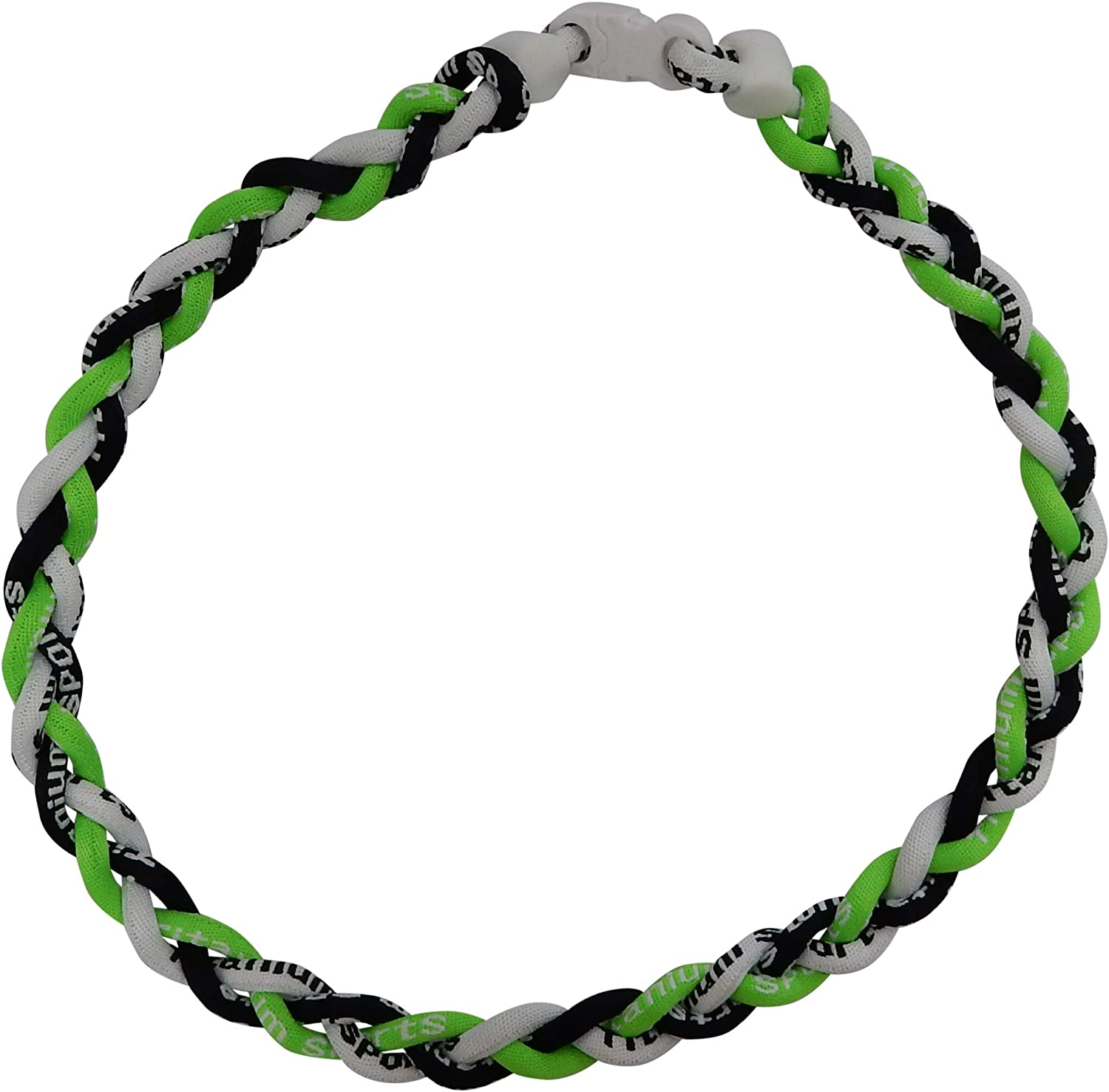 3 PACK Tornado SPORT Necklace NEON GREEN WHITE BLUE-MAROON GOLD-LIME GRN PURPLE