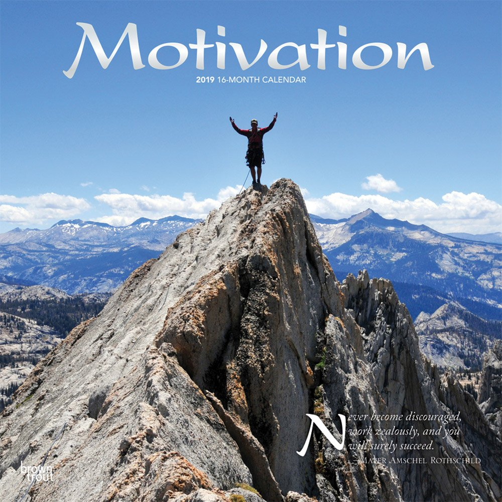 Download Motivation 2019 12 x 12 Inch Monthly Square Wall Calendar with Foil Stamped Cover, Motivation Inspiration Quotes pdf