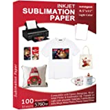 Sublimation Paper 100 Sheets 8.5 x 11 Inches, for Any Inkjet Printer with Sublimation Ink Epson, HP, Canon Sawgrass…
