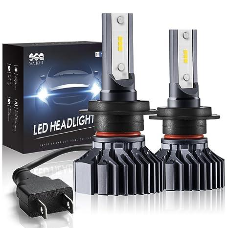 H7 LED SEALIGHT Faros Delanteros Bombillas Coches Lámpara Luz H7 Faros Coche Bombillas 6000K 2pcs 5