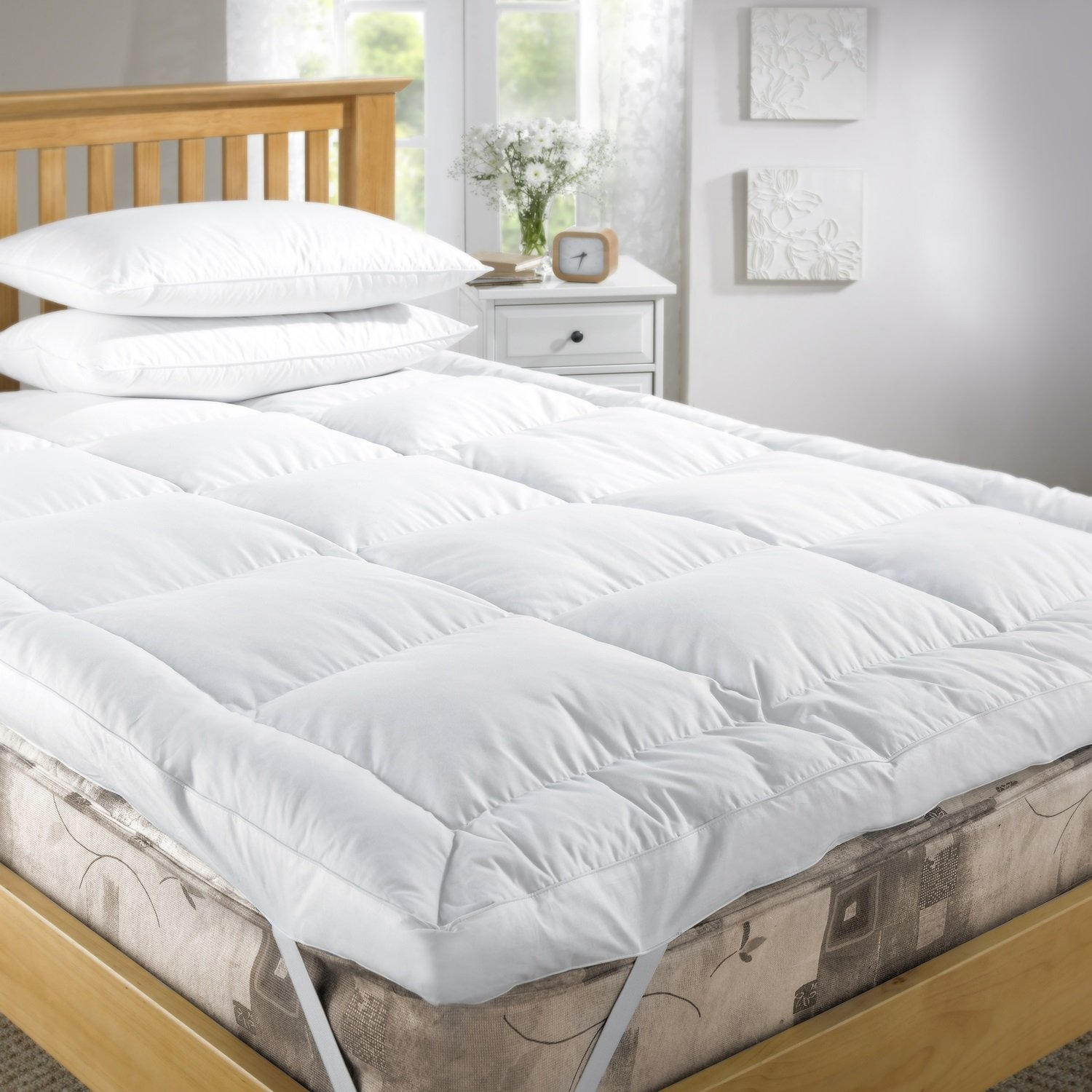 kitchen construction cover uk sleep original box co bed cotton topper amazon home mattress company cambric thick double duck feather dp extra