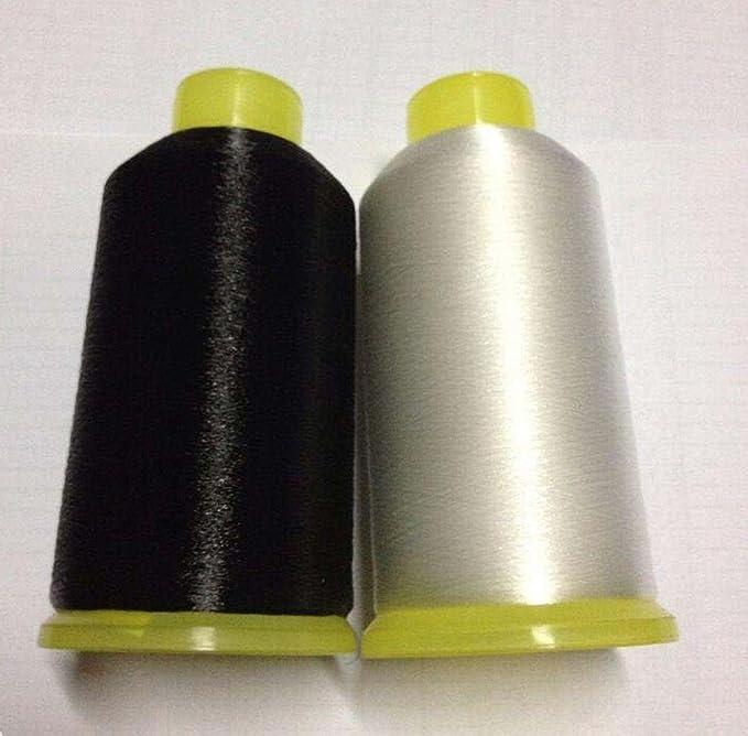 chengyida 0,1 mm transparente y negro Nylon hilo de coser Invisible transparente tapicería abalorios, claro mono-filament Invisible hilo, hilo de hilo de bobina de nailon, acolchado – 8760 Yards: Amazon.es: Juguetes y