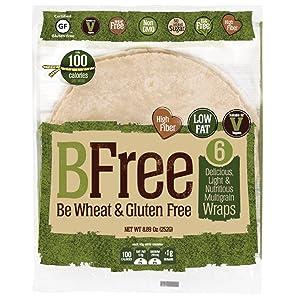 BFree Gluten Free Wrap Tortillas Multigrain 8 Inch Dairy Free Wheat Free 3 Pack