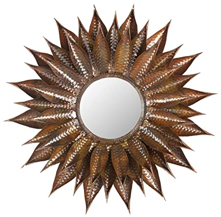 Safavieh Home Collection Sunflower Mirror, Copper