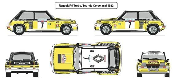 Amazon.com: Heller - 80717 - Construction Et Maquettes - Renault R5 Turbo - Echelle 1/24ème: Toys & Games