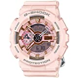 Casio G-Shock Gold and Pink Dial Pink Resin Quartz Ladies Watch GMAS110MP-4A1