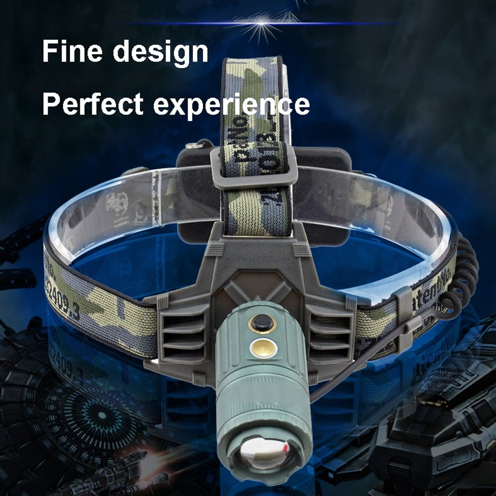 TLMYDD Outdoor-Starke Scheinwerfer Wiederaufladbare Superhelle Miner's Lampe Einstellbar Einstellbar Einstellbar Zoom Kopf Montiert Taschenlampe Taschenlampe B07LD2XWYX | Online  0cfc2f