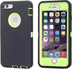 AICase iPhone 8 Plus/7 Plus Case, [Heavy Duty] [Full Body] Tough 3 in 1 Rugged Shockproof Water-Resistance Cover for Apple iPhone 8 Plus/7 Plus (Green/Black)