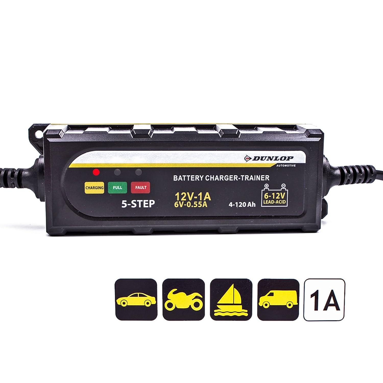 Dunlop Batterieladegerä t 6/12 Volt fü r Blei-Sä ure und Gel Batterien Edco