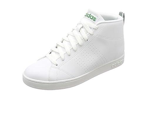 reputable site 20330 61cd4 adidas Advantage Cl Mid Sneaker a Collo Alto Uomo, Bianco (Ftwr WhiteGreen