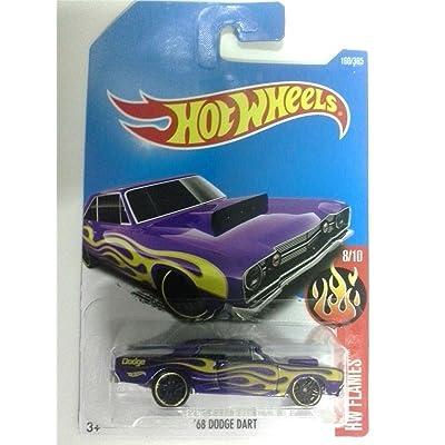 Hot Wheels 2020 HW Flames '68 Dodge Dart 160/365, Purple: Toys & Games