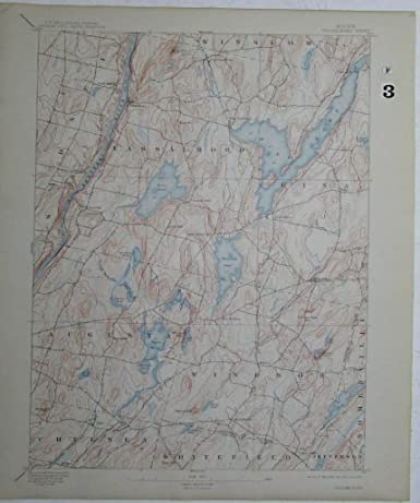 China Lake Maine Map.Amazon Com Vasselboro Maine China Weber Lakes Kennebec River