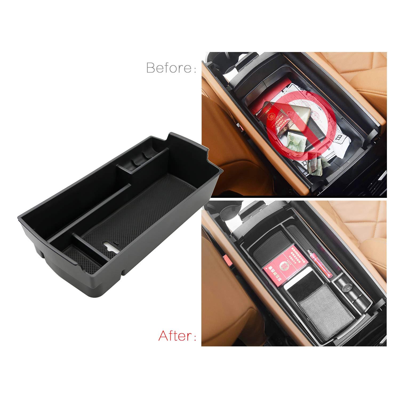 RUIYA Aufbewahrungsbox Aufbewahrungskiste Mittelkonsole Veranstalter Armlehne Box angepasst Console Armlehne Box angepasst f/ür 2016 2017 2018 Sorento Konsole Organizer Box einstellen