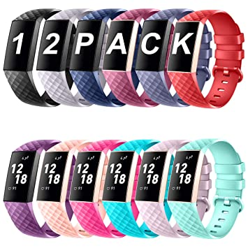 DigiHero Bands Compatible for Fitbit Charge 3,Classic & Special Edition  Replacement Fitness Sport Wristband Compatible for Charge 3 and Charge 3  SE,