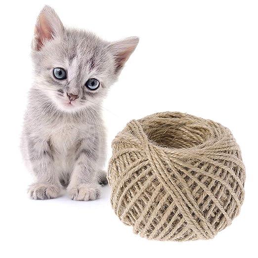 Cuerda de sisal para gatos, juguetes para rascar, bricolaje ...