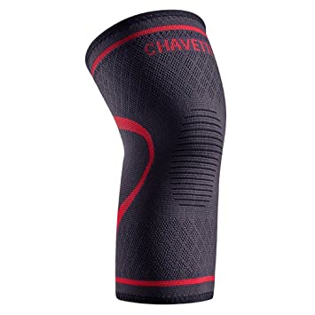 aac4e90dc5 Knee Brace, CHAVETTE Knee Compression Sleeve support for Sports Activities,  Pain Relief and Recovery
