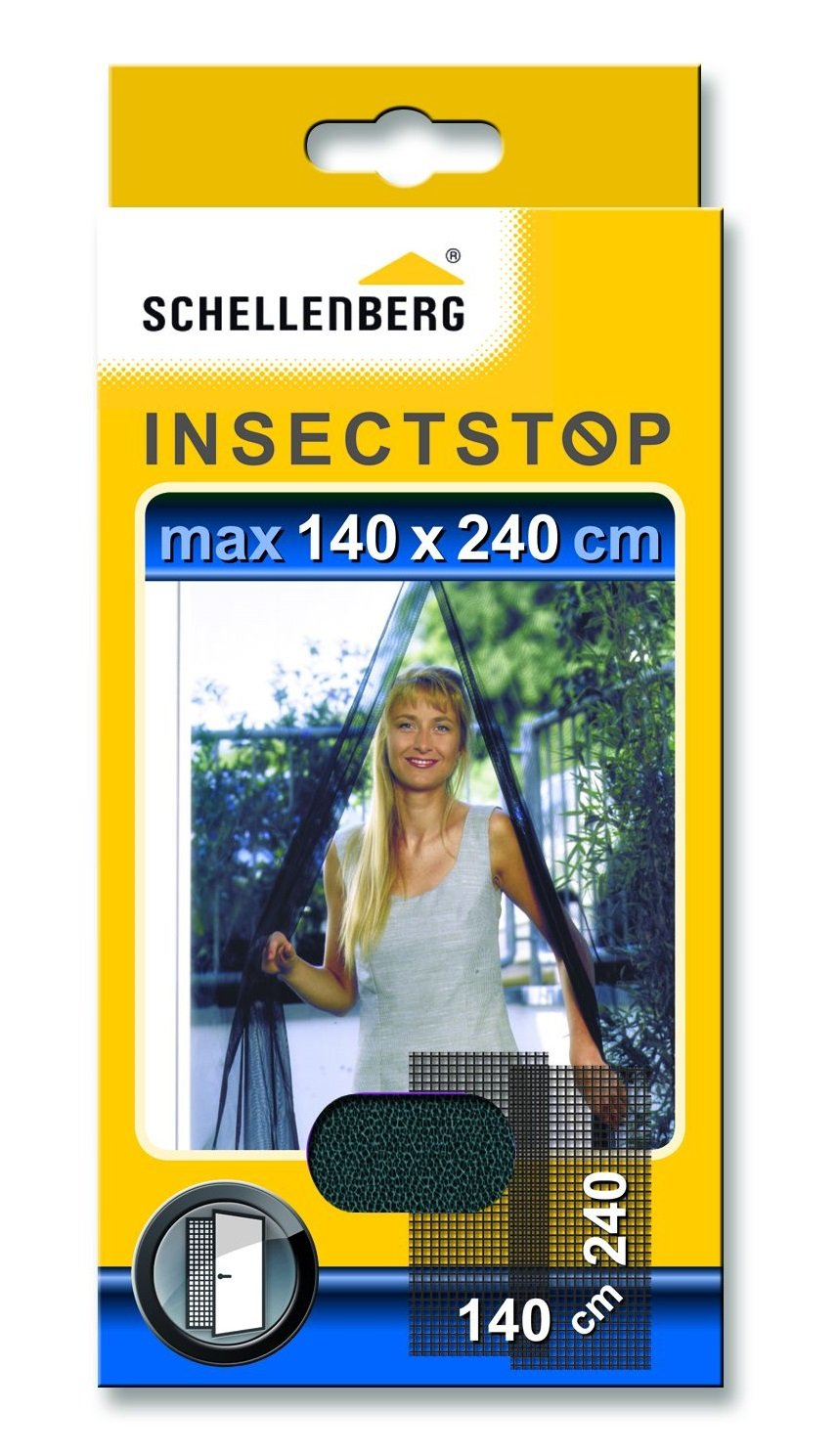 Schellenberg 20509 140 x 240 cm Fly Screen - White/Dark gray