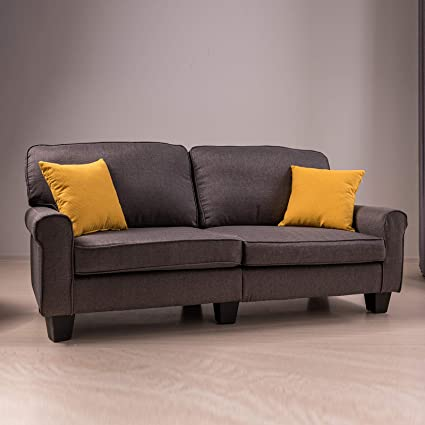 Amazoncom Mecor Loveseat Sofa Grey 70 Inch Living Room Furniture