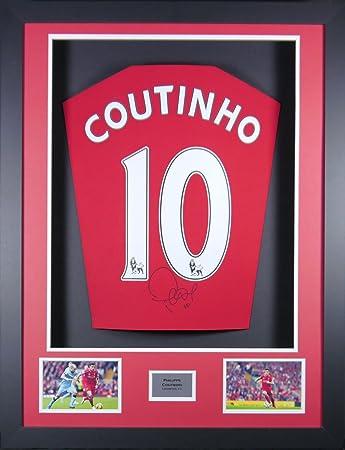 Philippe Coutinho Liverpool SIGNED Shirt, 3D-Rahmen Display mit ...