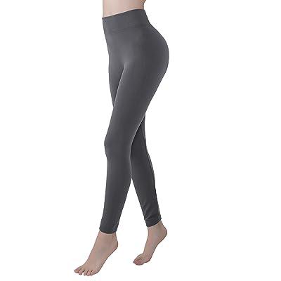 Premium Women Leggings High Waist Yoga Pant Seamless Slimming Leggings for Women (Grey, One Size) at Women's Clothing store