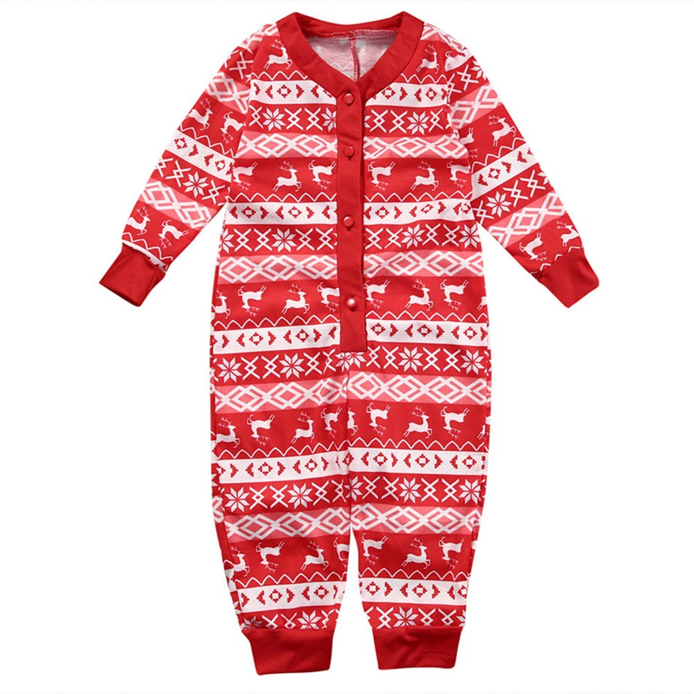 Alljoin Christmas Family Matching Pajamas Deer Pattern Sleepwear Sets (Baby, 18 Months)