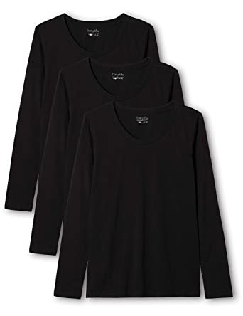 ae0e9b91a74 Berydale Women's Long Sleeve Shirt with Crew Neck, 3-pack, in Various  Colours