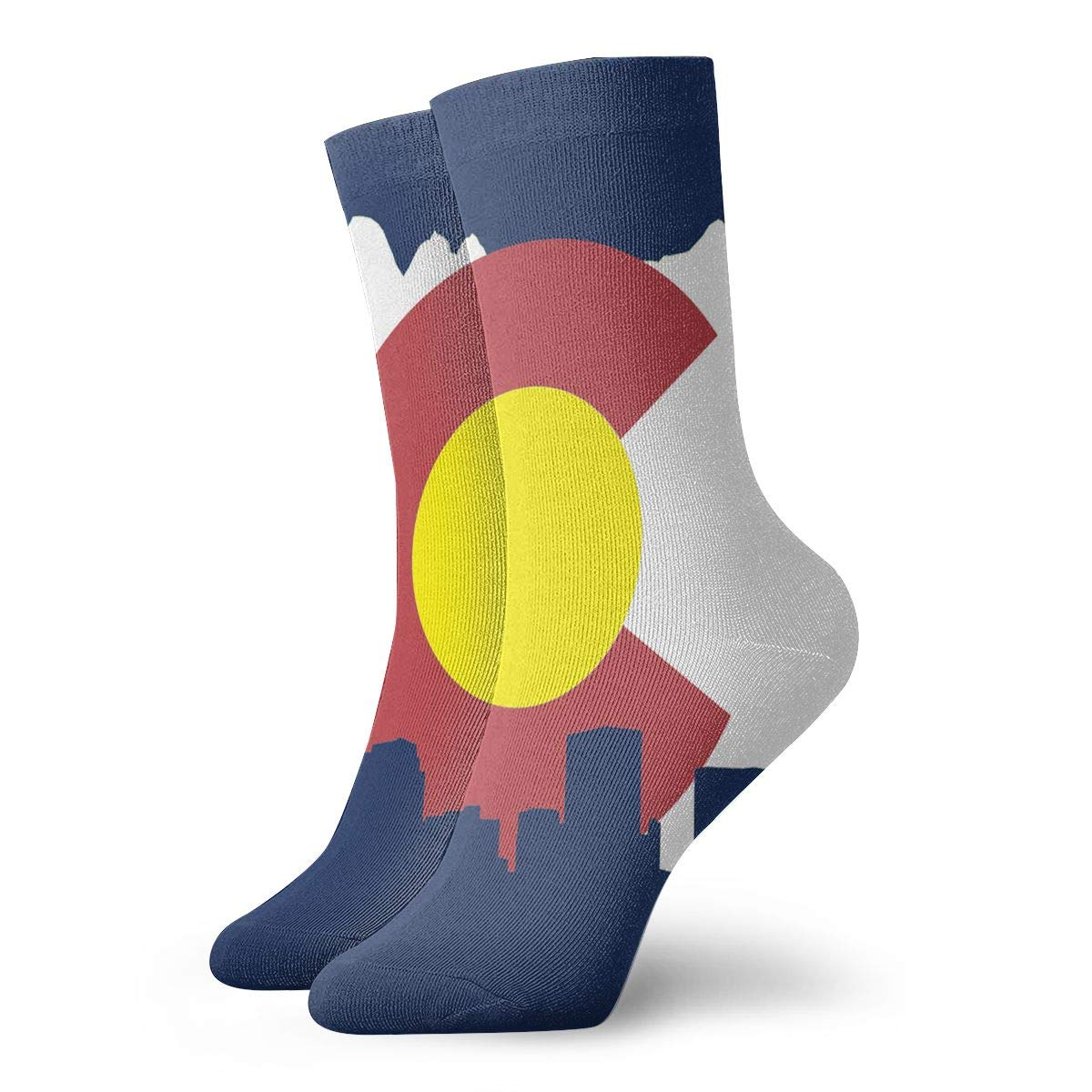 SESY Colorado Flag Unisex Crew Socks Short Sports Stocking