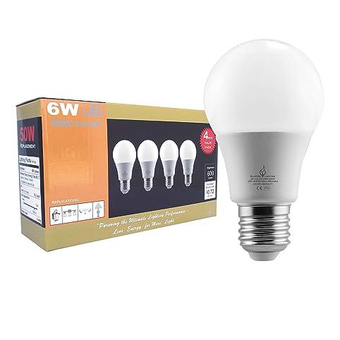 BLUEFIRE 6 Watts A19 LED Light Bulbs Natural Daylight 5000K 600 Lumens 40W  sc 1 st  Amazon.com & BLUEFIRE 6 Watts A19 LED Light Bulbs Natural Daylight 5000K 600 ... azcodes.com