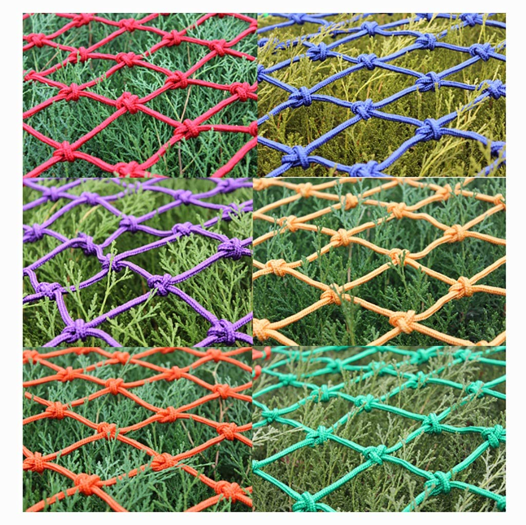 Wlh Anti-Fall Net Decoration Rope Net, Children Cat Dog Pet Animal Safety Net Protection Net Rope Net, Used for Amusement Park Garden Tunnel Nylon Net (Color: Red) (Size: 6 Mm Rope 8 cm Hole) by Wlh (Image #4)