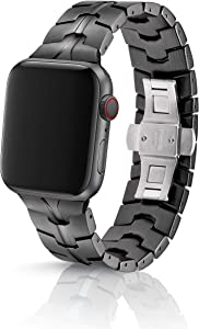 42/44mm JUUK Vitero Cosmic Grey Premium Watch Band Made for The Apple Watch, Using Aircraft Grade, Hard Anodized 6000 Series Aluminum with a Solid Stainless Steel Butterfly deployant Buckle (Matte)
