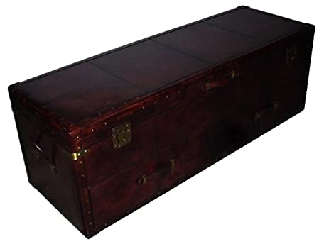 Designe Gallerie Leather Storage Chest Trunk And Box Bed Room Furniture