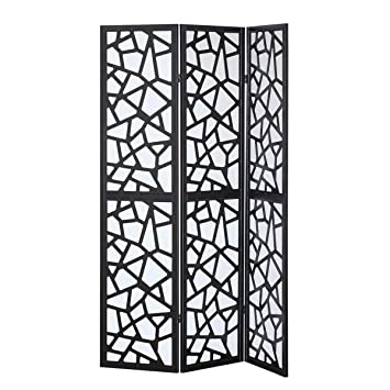 Amazoncom Fdinspiration 70 H Folding Fabric Room Divider Pine