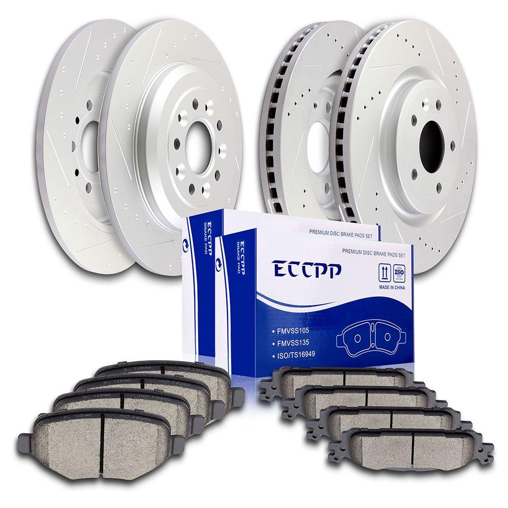 Amazon.com: ECCPP Brake Rotors Brakes Pads Kits, 4pcs Front Rear Discs  Brake Rotors and 8pcs Ceramic Disc Brake Pads for 2011-2016 Ford  Explorer,2011-2014 ...