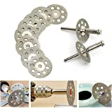 Wazaza 丸穴付き回転式ダイヤモンドカッティングディスク(直径22mm)10枚セット