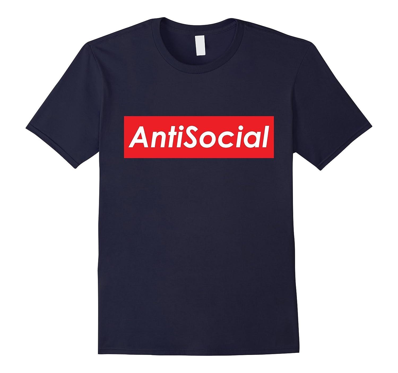 Anti Social Red Box Logo T-Shirt - Introverted Shirt-TD