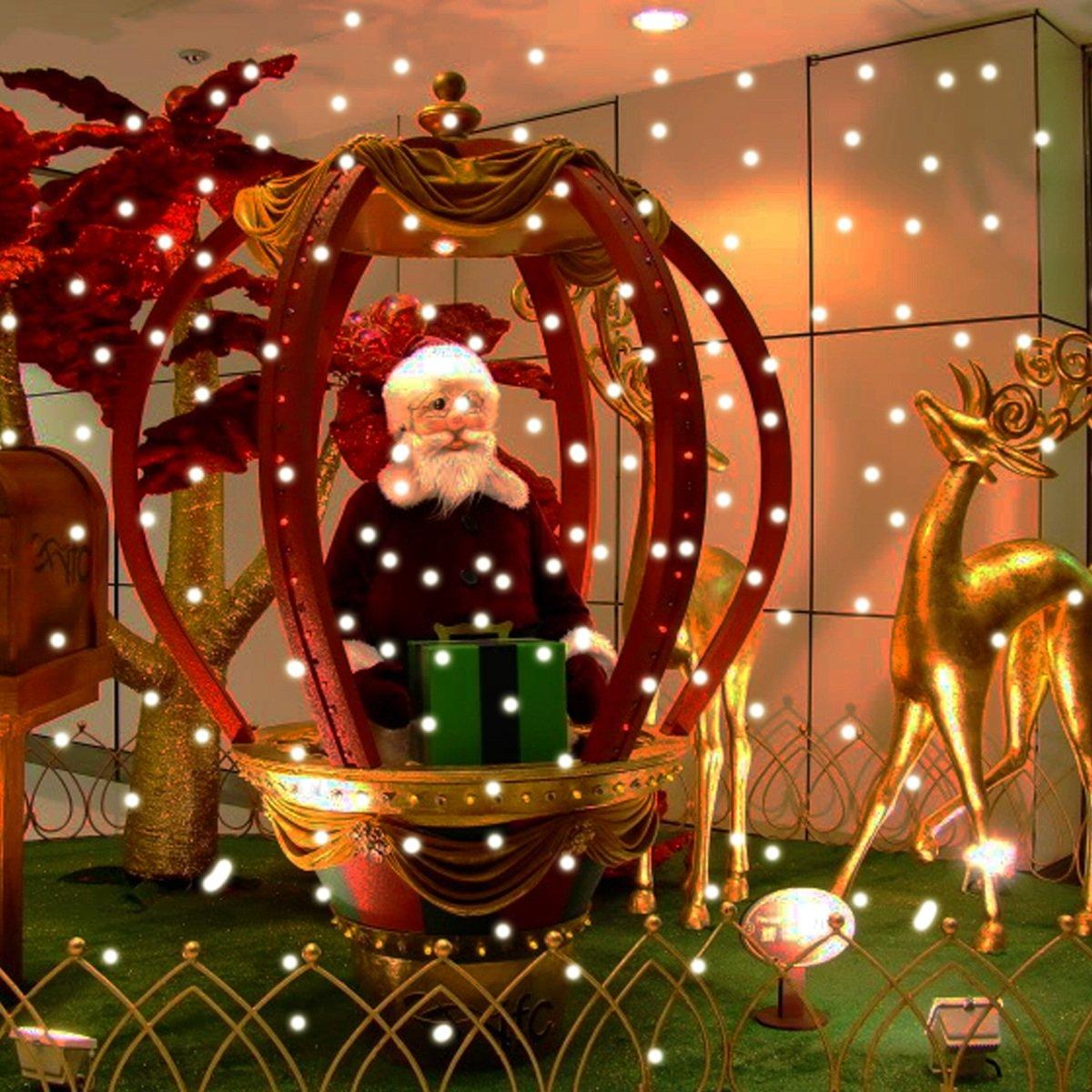 Amazon.com: LED Snow Falling Christmas Light?Snowfall Night Lights ...