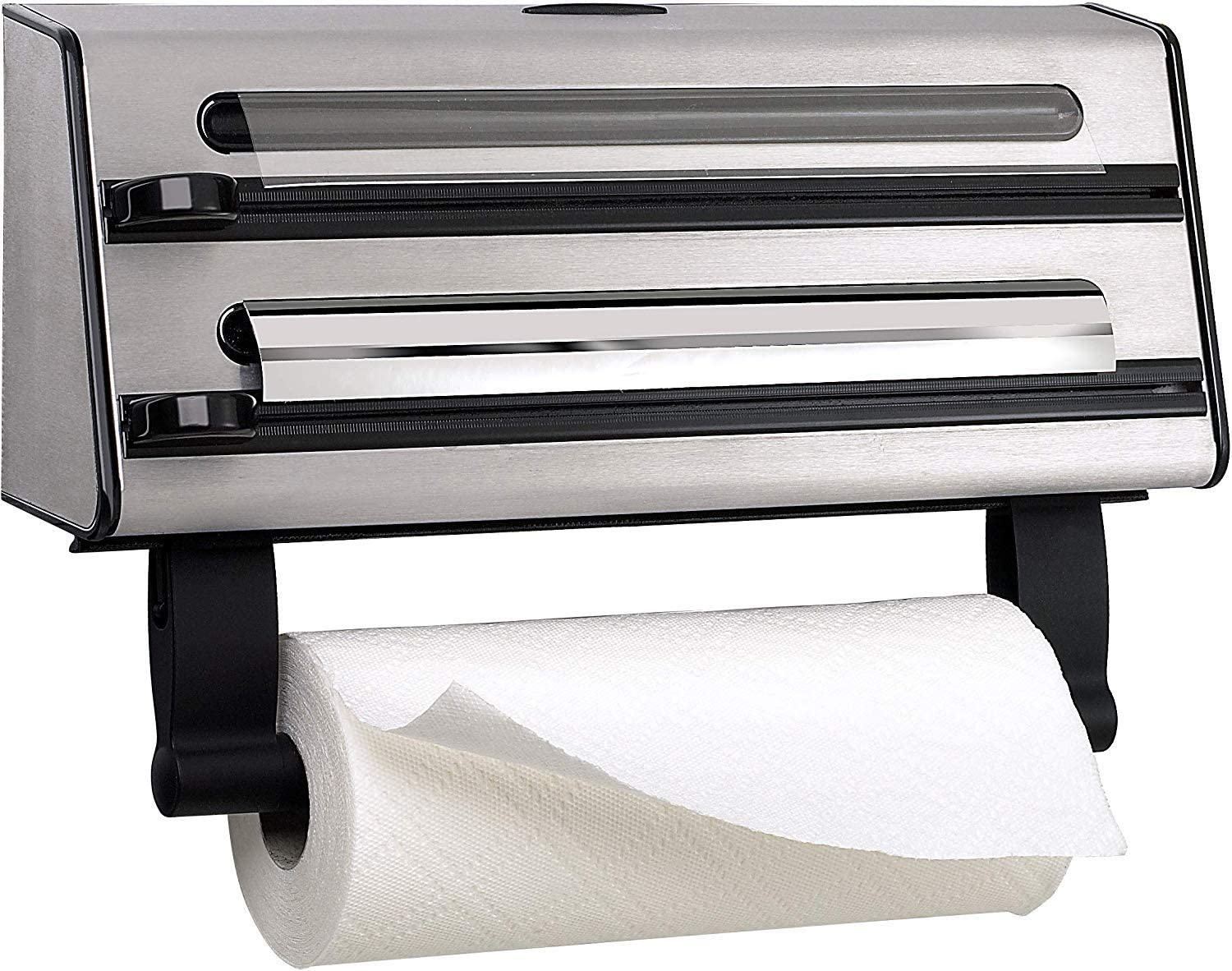 Foil And Kitchen Towel Dispenser Master Class Stainless Steel Cling Film