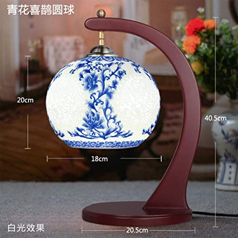 Jarrón hueco lámpara de mesa lámpara de cerámica dormitorio ...