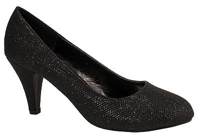Damen Pumps Schuhe Elegant High Heels Bequeme Schwarz 36 YYvpmD9