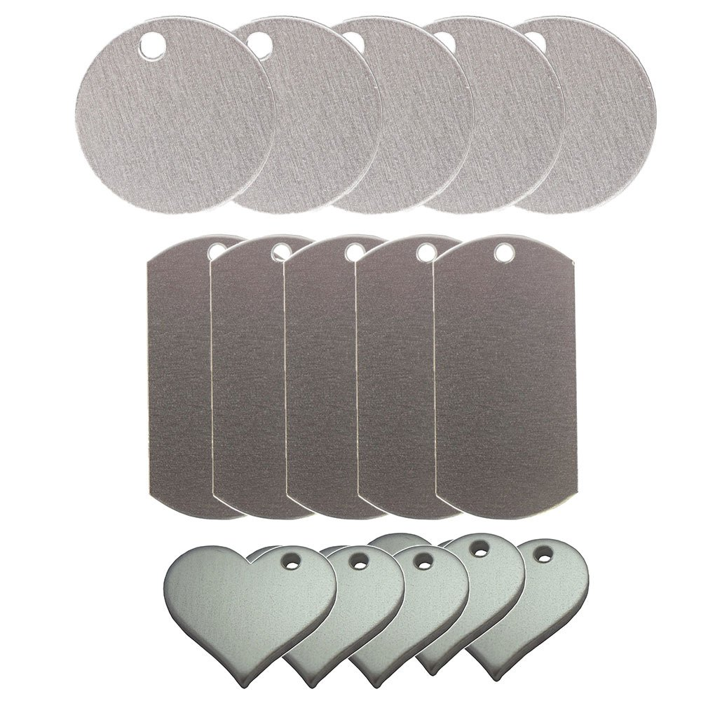 Metal Stamping Blank Pendants: Round, Heart, and Dog Tags Aston-Grace
