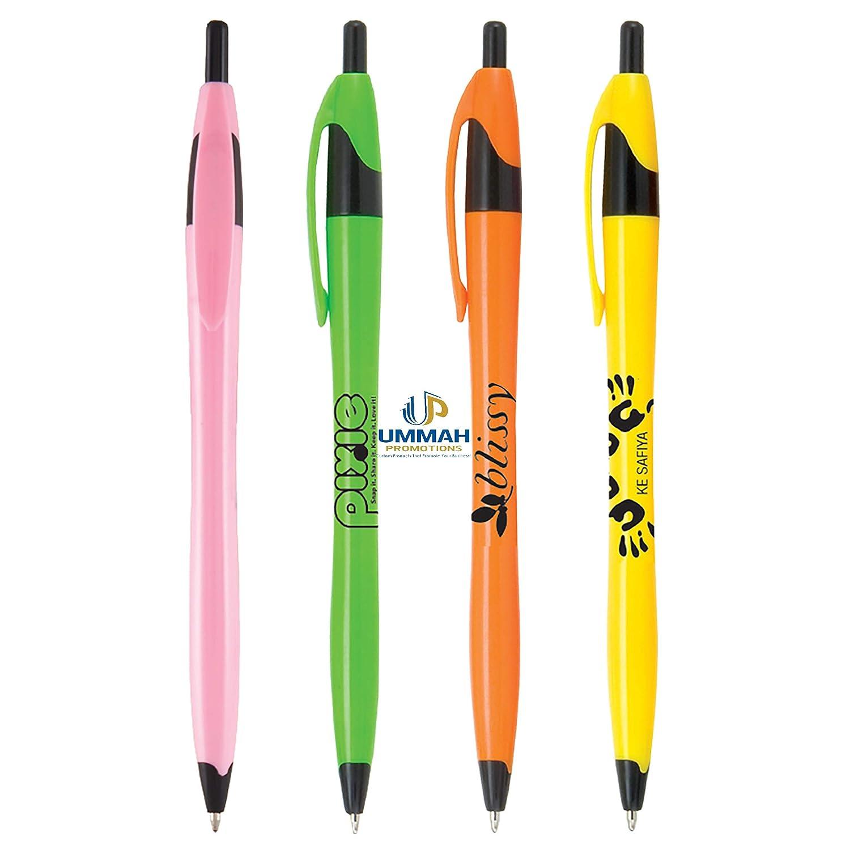 250プロモーショナル クラシック ブライト クリックペン ロゴやメッセージが印刷されています B07L8MJDV9