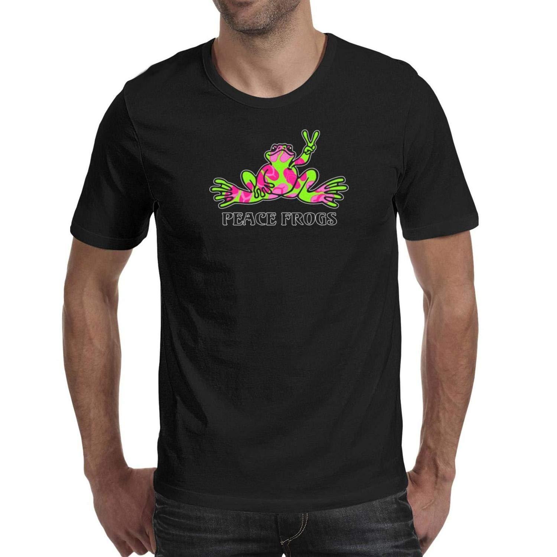 FEIHVSJF Peace Frog Gray Matters Logo Mens Graphic Performance Linen Short Sleeve t Shirt